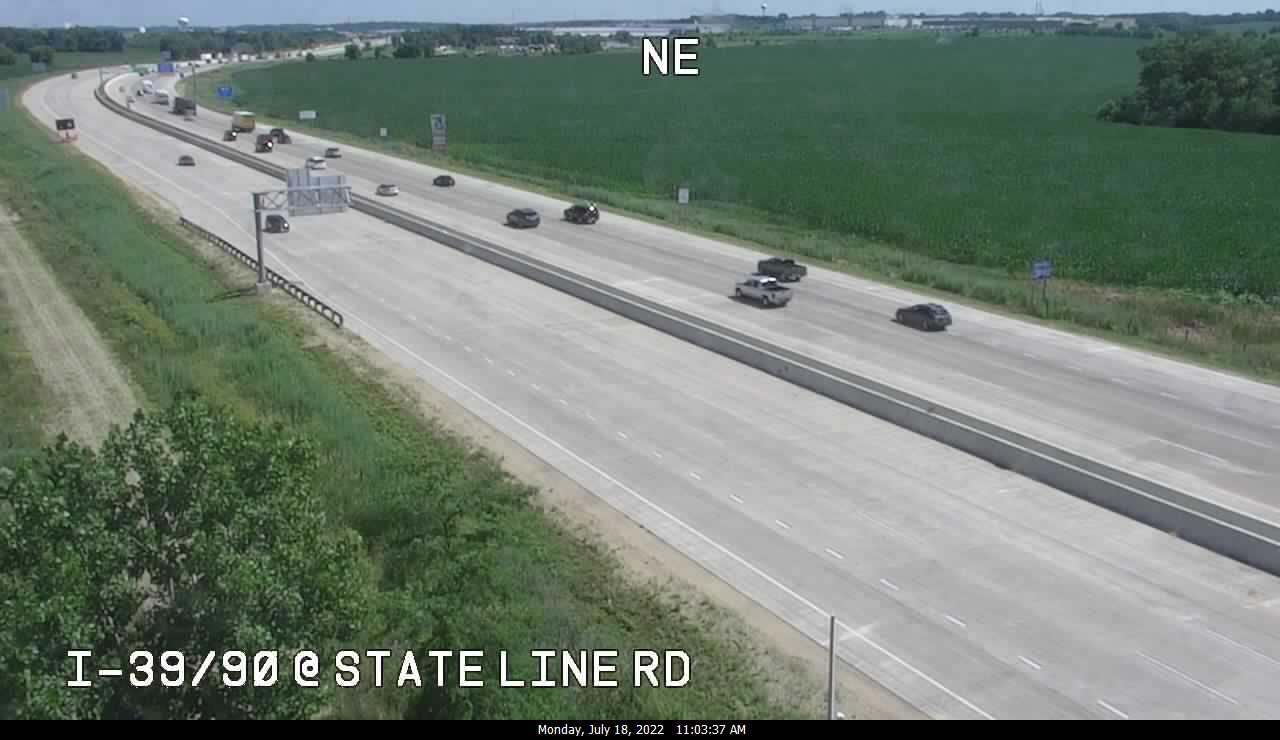 camera snapshot for I-39/90 at State Line Rd